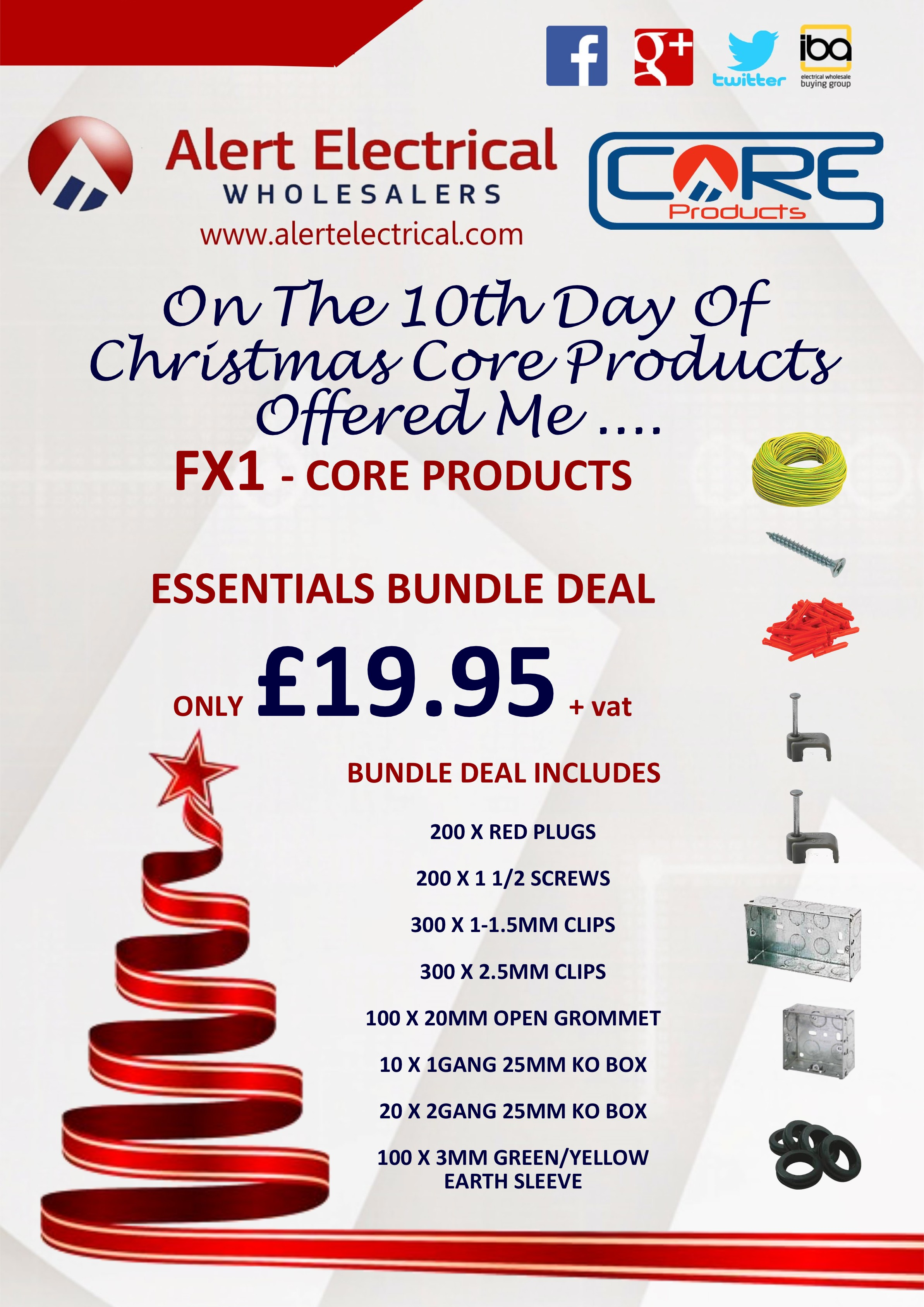Alert Electrical Wholesalers 12 Days of Christmas. Day 10 Core Products FX1 Essentials Bundle Deals