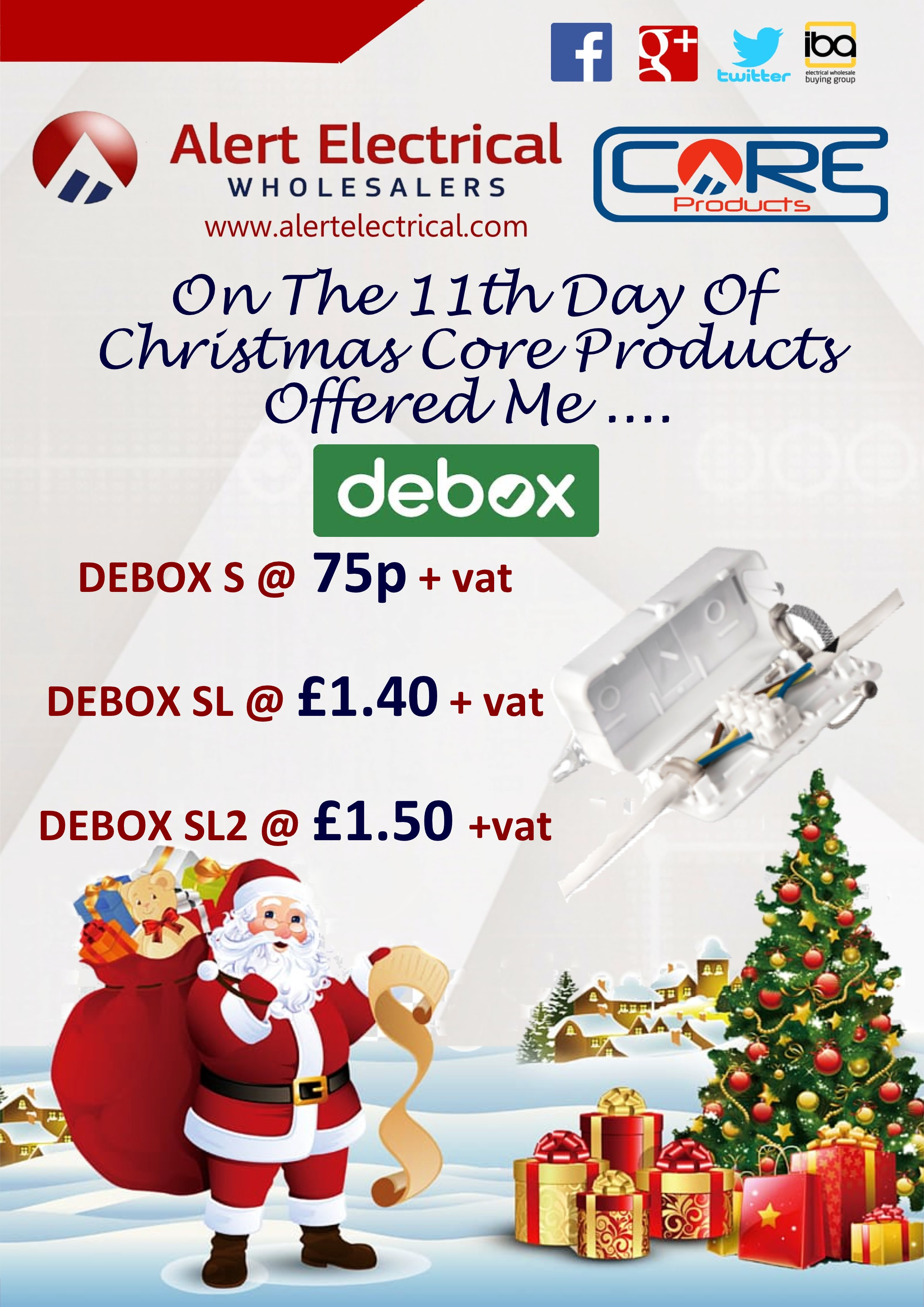 Alert Electrical Wholesalers 12 Days of Christmas. Day 11 Hylec Debox S, SL & SL2 Connector Box's