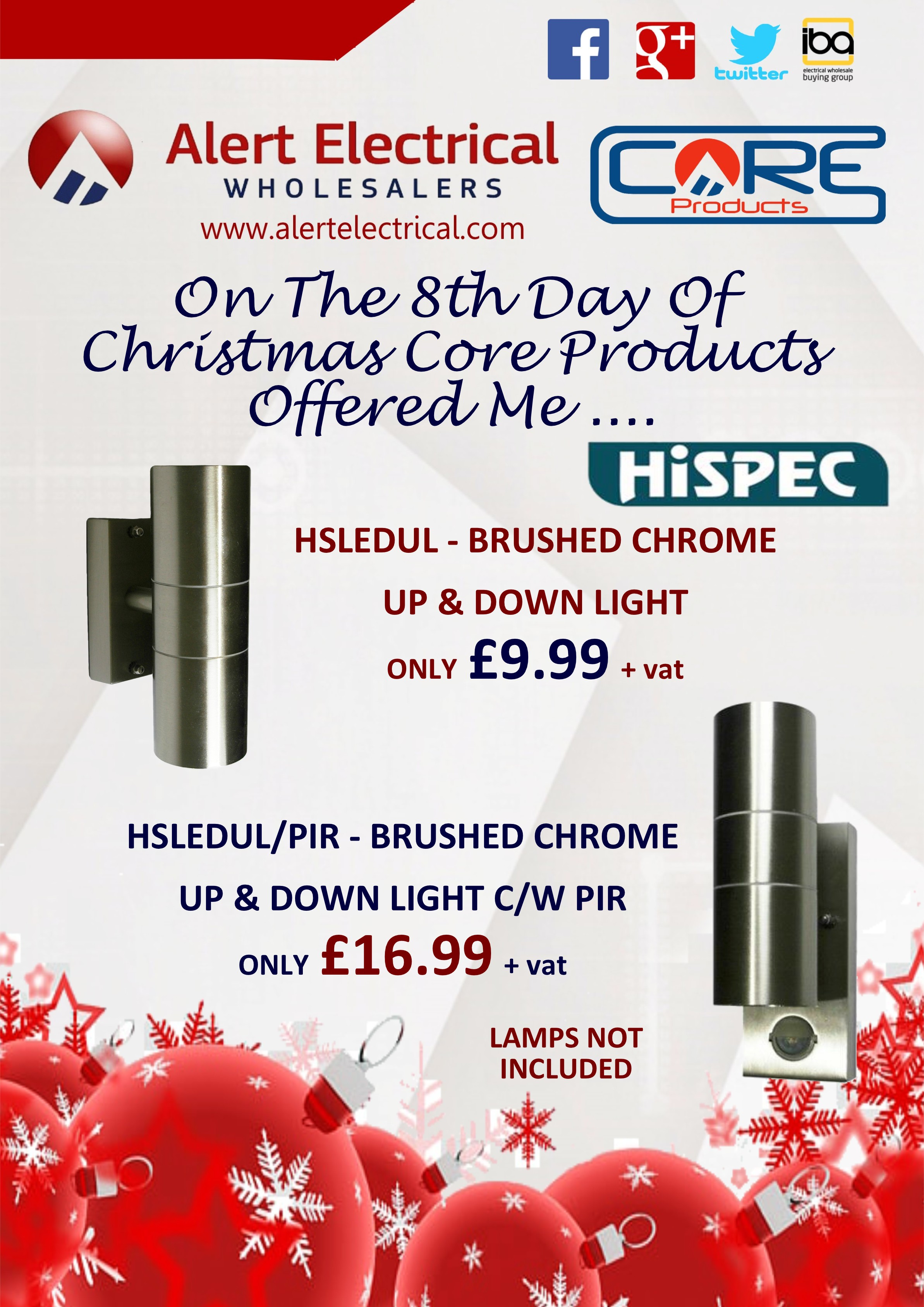 Alert Electrical Wholesalers 12 Days of Christmas. Day 8 HiSpec Up & Down Outdoor Lights