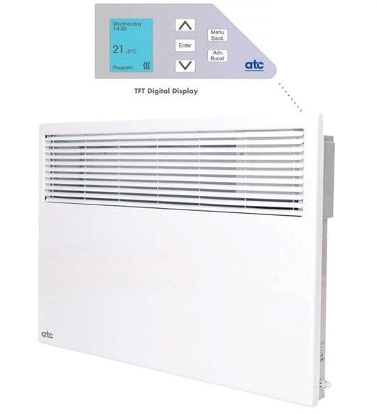 Easy to program and to install. The ATC Almeria Digital Panel Heaters meet the new Efficiency requirements