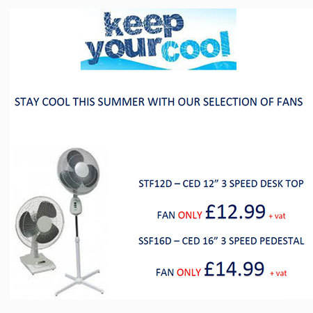 Stay Cool With A Desk Or Pedestal Fan
