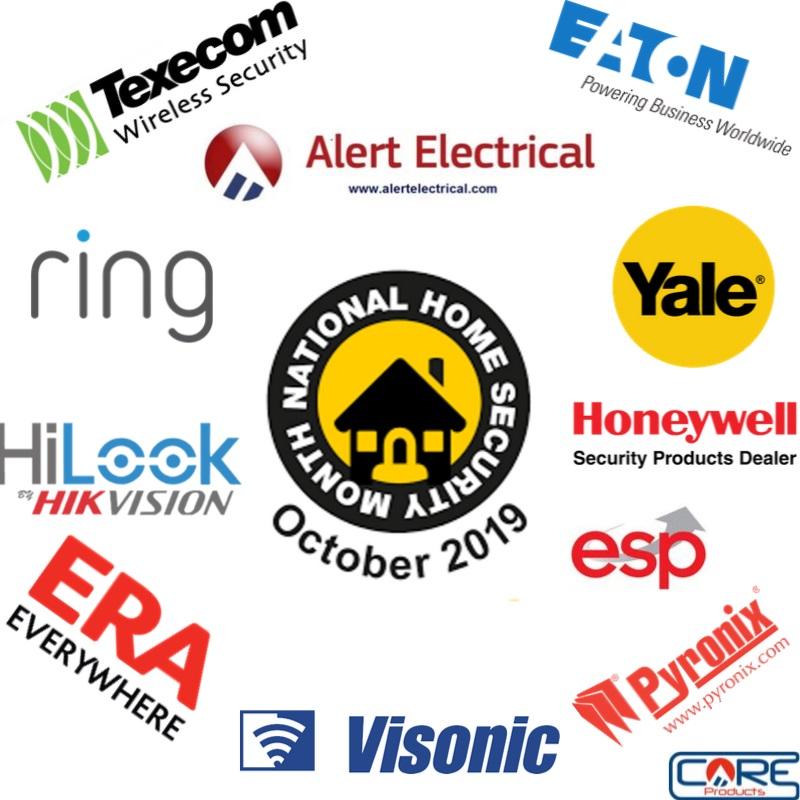 Its National Home Security Month here at alertelectrical.com and we have all the brands to keep you and your home Safe