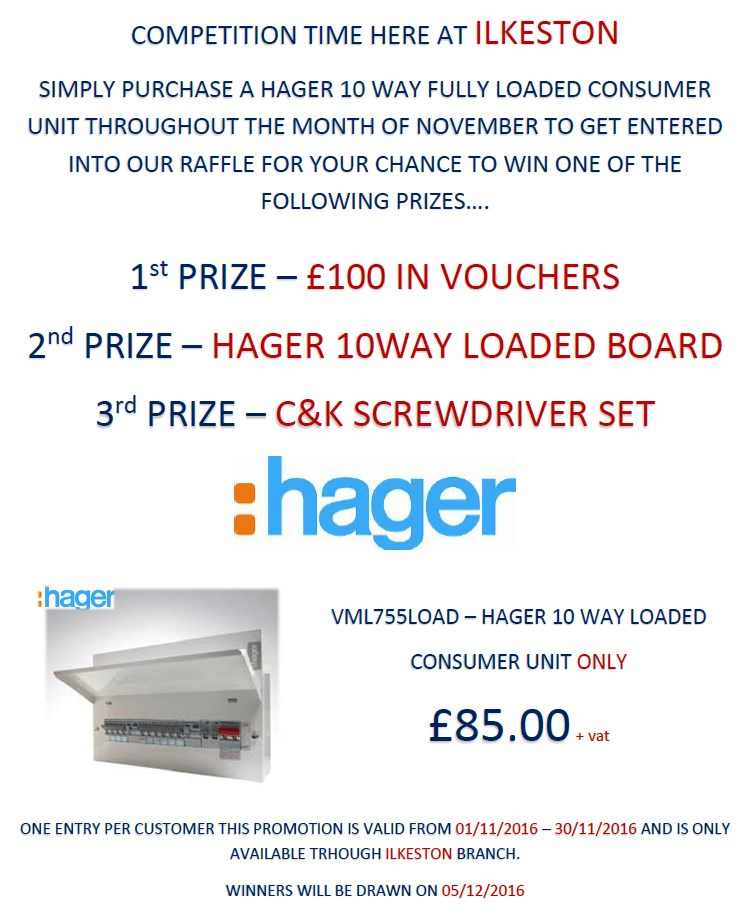 Hager Consumer Unit Offer