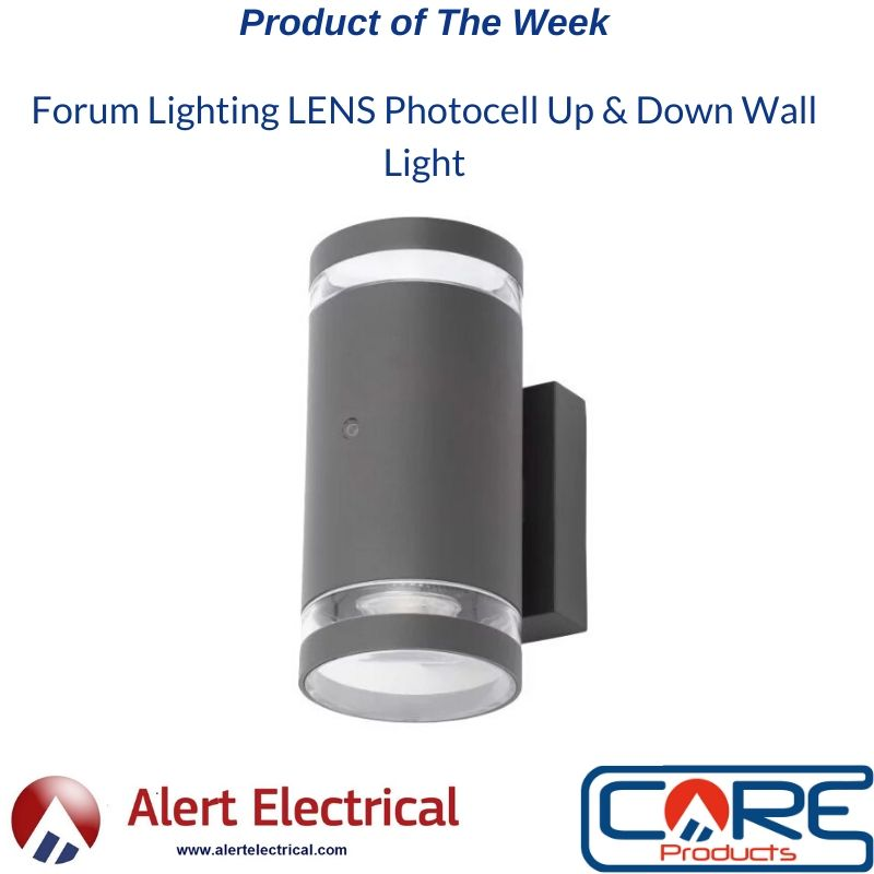 Alert Electrical Product of the Week. Lens Photocell Up & Down Wall Light from Forum Lighting