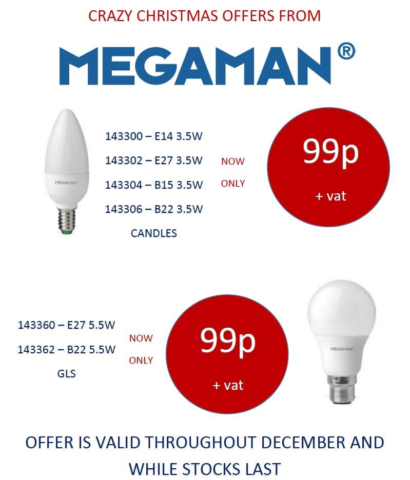 Megaman LED Lamps just 99p plus VAT