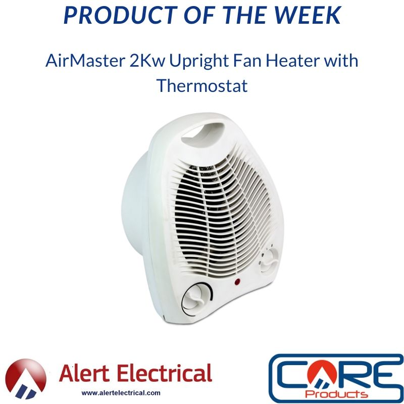 Alert Electrical Product of the Week. AirMaster Upright 2Kw Fan Heater with Thermostat
