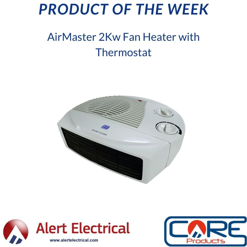 Alert Electrical Product of the Week. AirMaster 2Kw Fan Heater with Thermostat