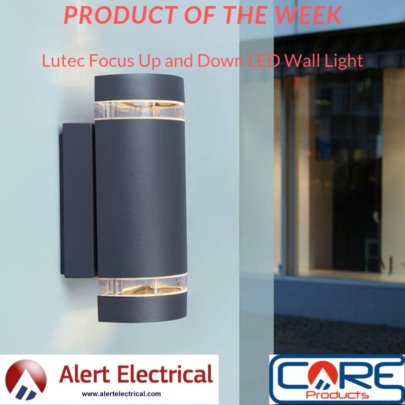 Alert Electrical Product of the week. Lutec Focus Up and Down LED Wall Light