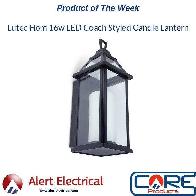 Alertelectrical.com product of the week, Lutec Hom candle styled Lantern