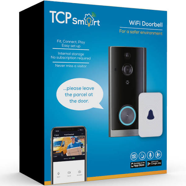 Never miss a visitor or delivery with the TCP Smart Doorbell