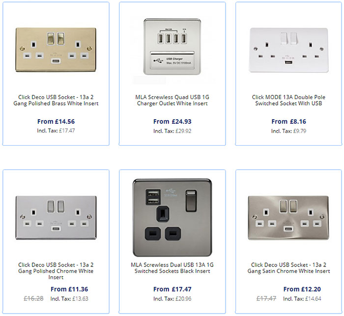 USB Sockets Special Offer