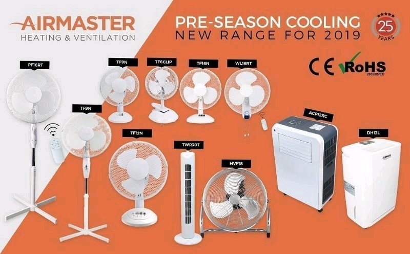 Don't be caught out when weather turns warmer! Check out our range of Desk & Pedestal fans from AirMaster