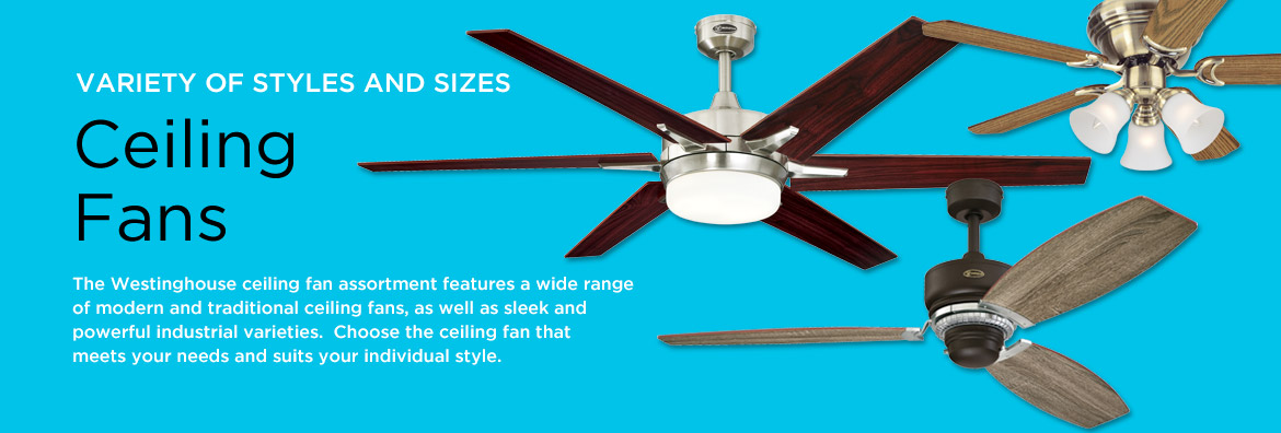Westinghouse Ceiling Fans With Lights UK | Alertelectrical.com