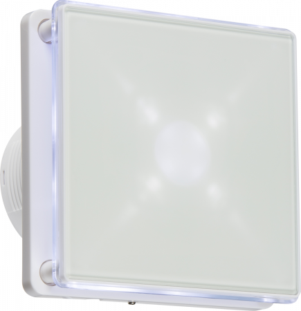 """Knightsbridge 100MM/4"""" LED Backlit Extractor Fan with Timer White 