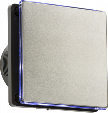 """Knightsbridge 100MM/4"""" LED Backlit Extractor Fan with Timer Stainless Steel 