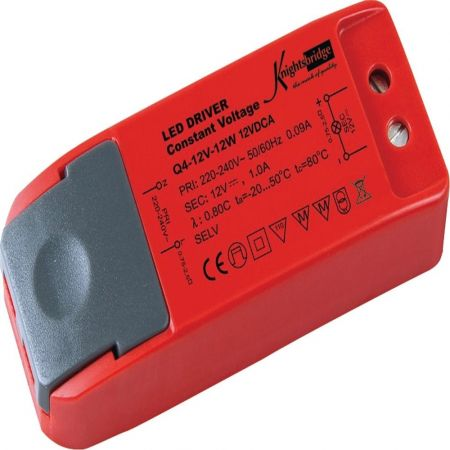 Knightsbridge 12VDCA IP20 12V 12W Constant Voltage LED Driver