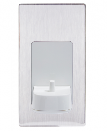 ProofVision Brushed Steel Cover for in Wall Electric Toothbrush Charger | PV10-BS-FR