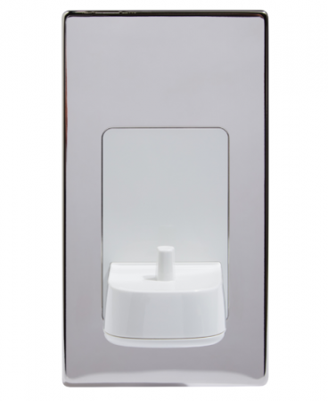 ProofVision Polished Chrome Cover for in Wall Electric Toothbrush Charger | PV10-PS-FR