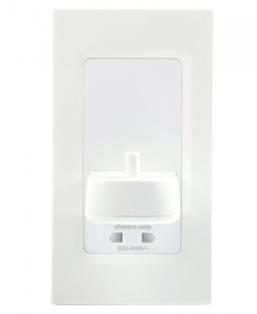 ProofVision PV In Wall Electric Toothbrush Charger and Shaver Socket White | PV12P