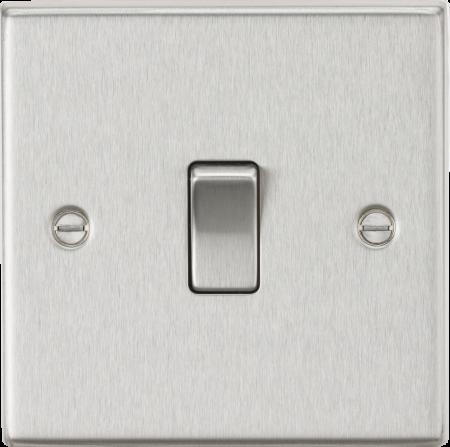 Knightsbridge 10AX 1G 2-Way Brushed Chrome Light Switch | CS2BC