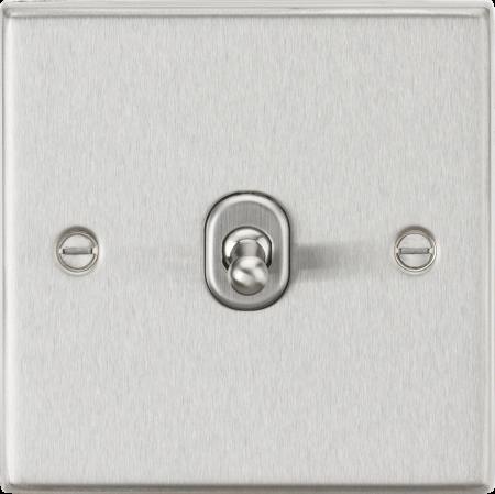Knightsbridge 10AX 1G 2-Way Brushed Chrome Toggle Light Switch | CSTOG1BC