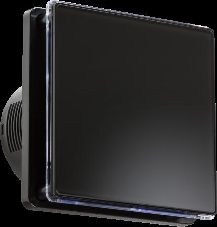 "Knightsbridge 100MM/4"" LED Backlit Extractor Fan with Timer Black | EX005T"