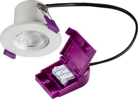 Knightsbridge IP65 5w 230V Fire Rated LED Downlight 4000K