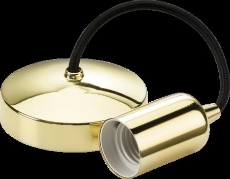 "Knightsbridge 6"" E27 Contemporary Pendant Set Polished Brass | 8270PB"