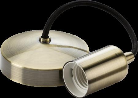 "Knightsbridge 6"" E27 Contemporary Pendant Set Antique Brass | 8270AB"