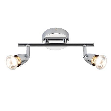 Endon Lighting Amalfi 2 Light Spotlight Bar Chrome Plate 43278