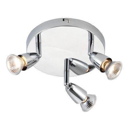 Endon Amalfi 3 Light Round Chrome Plate Surface Spotlight 43279