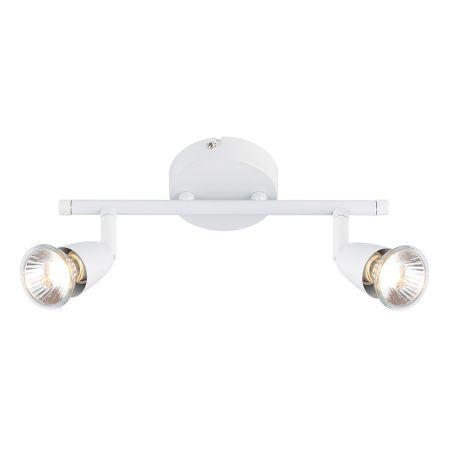 Endon Lighting Amalfi 2 Light Spotlight Bar Gloss White 43282