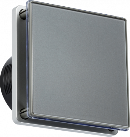 """Knightsbridge 100MM/4"""" LED Backlit Extractor Fan with Timer Grey 