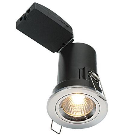 Saxby Lighting ShieldPLUS GU10 Fixed IP20 Chrome Plate Downlight | 50674