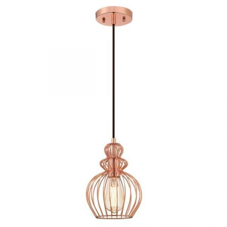 Westinghouse 1 Light Pendant with Copper Cage Shade 61035