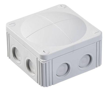 Wiska COMBI 607/5 IP66/67 Weatherproof Junction Box 110x110x66mm Grey 61778