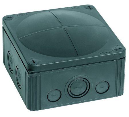 Wiska COMBI 1010/5/S IP66/67 Weatherproof Junction Box 140x140x82mm Black | 10062215