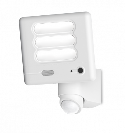 Lutec ESA 25W LED IP54 Floodlight with Wi-Fi HD Camera White 6255-CAMWH