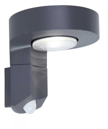 Lutec Diso P9067-PIRGR Integrated Solar Panel PIR Wall Light