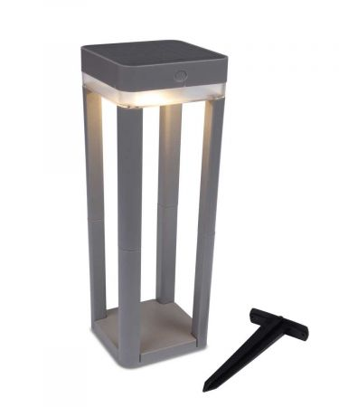 Lutec Solar Portable Table Cube Bollard P9080-450 si