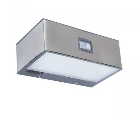 Lutec Brick P9085 Wall Light with Integrated Solar Panel