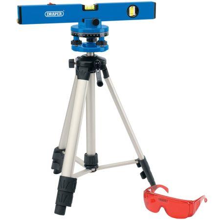 Draper Tools 400mm Laser Level Kit with 360° Swivelling Tripod | 69580
