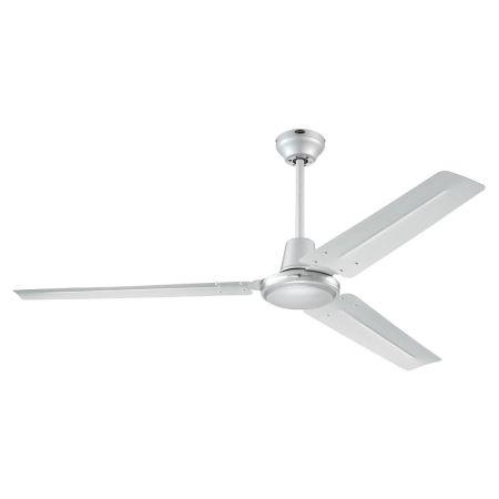 "Westinghouse Industrial Silver 56"" Three Blade Ceiling Fan 72501"