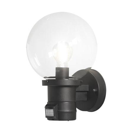 Konstsmide 7321-750 Nemi Globe Uplight With PIR Sensor insitu