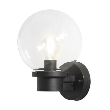 Konstsmide 7322-750 Nemi Globe with Dusk till Dawn Sensor Matt Black