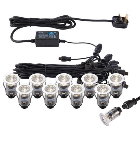 Saxby IkonPRO CCT 3000K/4000K 45mm IP67 Decking lights | 73349