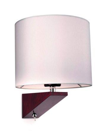 Firstlight 7655WA Alpine Switched Wall Light Dark Walnut with Cream Shade