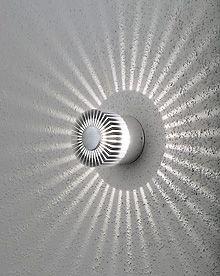 Konstsmide 7900-310 Monza 3w LED Wall Light IP54 Aluminium Wall Shot