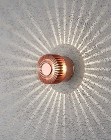 Konstsmide 7900-900 Monza 3w LED Wall Light IP54 Copper Colour Wall shot