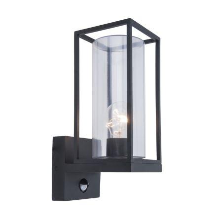 Lutec Flair PIR Wall lantern Matt Black | 5288802012